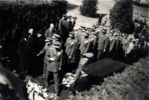 Pohřeb Edvarda Beneše - kondolence vdově