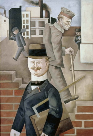 George Grosz (1893–1959): Šedivý den, 1921, olej na plátně. FOTO: Staatliche Museen zu Berlin, Nationalgalerie. © Estate of George Grosz, Princeton.