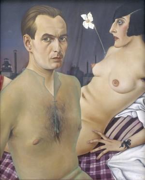 Christian Schad (1894–1982): Autoportrét, 1927, olej na dřevě. FOTO: © Christian Schad Stiftung Aschaffenburg/VG Bild-Kunst, Bonn and DACS, London 2017