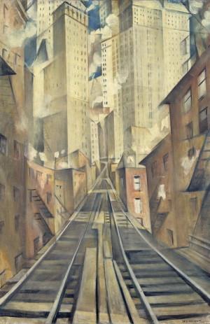 Christopher Richard Wynne Nevinson (1889–1946): Duše bezduchého města, 1920, olej na plátně. FOTO: © Tate