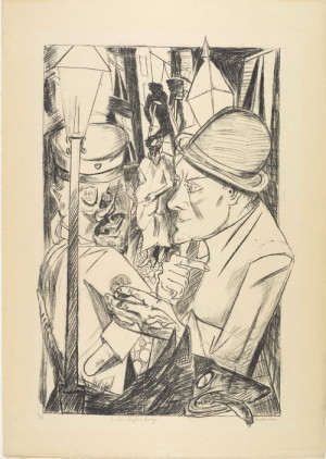 Max Beckmann (1884–1950): Peklo, 1919, litografie na papíře.. FOTO: Scottish National Gallery of Modern Art; © DACS, 2018