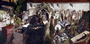Stanley Spencer (1891–1959): Vzkříšení, Cookham, 1924–1927, olej na plátně. FOTO: © Tate