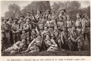 Čeští příslušníci Cizinecké legie, zařazení do čs. vojska ve Francii v srpnu 1918