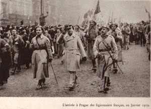 Návrat čs. legionářů z Francie do Prahy v lednu 1919