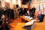 Prezident Miloš Zeman zahájil závěrečnou část výstavy Doteky státnosti věnovanou našim prezidentům