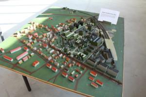 Model letovské továrny v Letňanech z 50. let