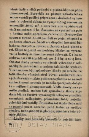 Ukázka textu pojednávajícího o dopadech střelby na plodiny.
