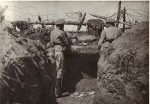 Přední hlídka 9. roty 2. pluku u Zborova, červen 1917