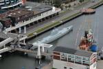 Potopená a vyzvednutá ponorka je vystavená v německém Bremerhavenu