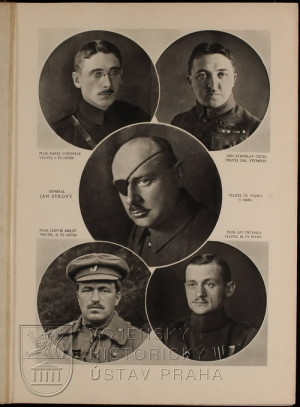 Fotografie legionářských velitelů.