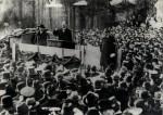 Němečtí revolucionáři za revoluce z let 1918–19, hovoří Karl Liebknecht