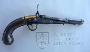 Pistole – větrovka systému Girandoni, J. Contriner, Vídeň, kolem 1820