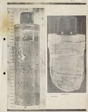 Speciální bomba Jana Kubiše z místa atentátu na Reinharda Heydricha, 1942