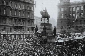 Vznik Československa v říjnu 1918 byl důsledkem první světové války
