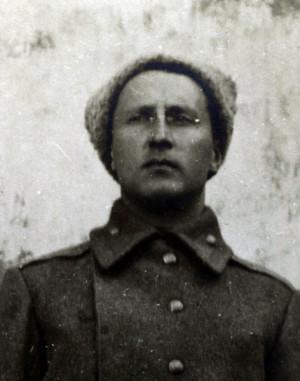 Poručík Otakar Husák, pozdější generál čs. armády, autor citované vzpomínky na generálmajora Jaroslava Červinku. (VHÚ Praha)
