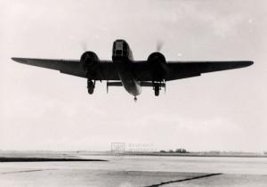 Fokker T.V při přistání