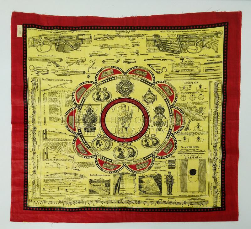 Rakousko-uherský instrukční šátek, 1891