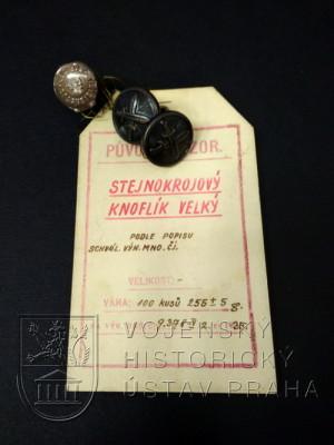 Stejnokrojový knoflík velký, Československo, 1935