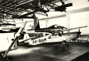 Československé sportovní letouny M-1 Sokol a L-40 Meta Sokol v muzeu ve Kbelích, 1. květen 1969