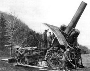 Německé 420mm dělo Tlustá Berta