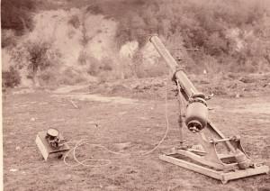 15cm pneumatický zákopový minomet vz. 15 M. E. německé firmy Maschinenfabrik Esslingen byl používán německou i rakousko-uherskou armádou.