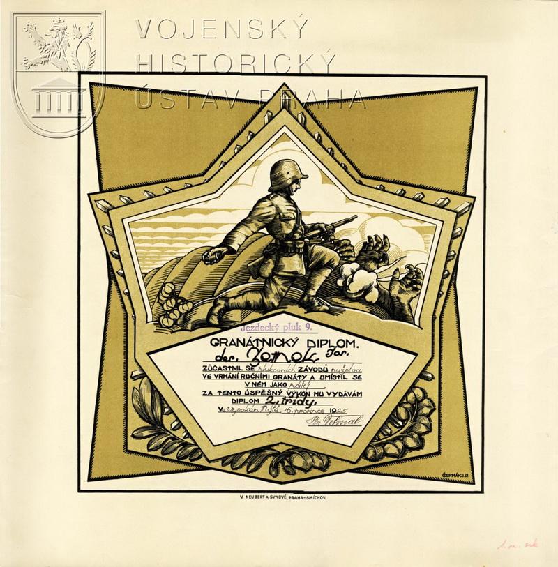 Granátnický diplom, 1925