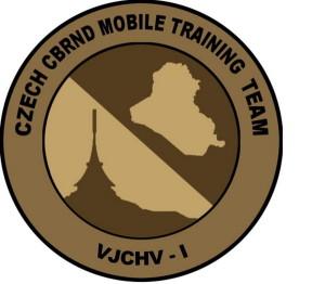 Znak Výcvikové jednotky chemického vojska v Iráku.