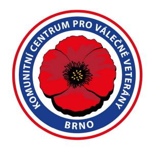 Logo Komunitního centra pro válečné veterány Brno.