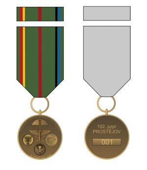 Pamětní odznak 15. výročí založení 102. průzkumného praporu.