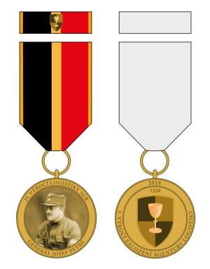 Pamětní odznak generála Josefa Petrše k 25. výročí logistiky AČR a k 5. výročí založení Agentury logistiky.