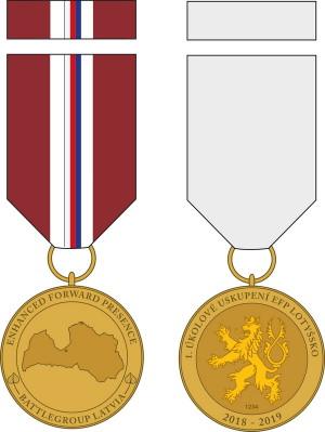 Pamětní odznak 1. úkolového uskupení eFP (Enhanced Forward Presence).