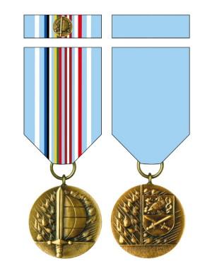 Medaile Ministra obrany České republiky Za službu v zahraničí – eFP (Enhanced Forward Presence).