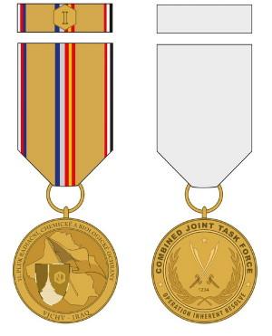 Pamětní odznak Výcvikové jednotky chemického vojska v Iráku.