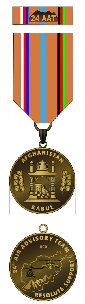 Pamětní odznak 24. úkolového uskupení leteckého poradního týmu v Afghánistánu (AAT).
