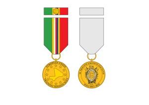 Pamětní odznak 10. jednotky mise EU-TM v Mali.