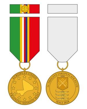 Pamětní odznak 11. jednotky mise EU-TM v Mali.