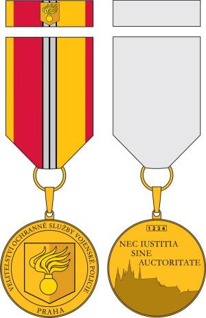 Pamětní odznak Velitelství ochranné služby Vojenské policie Praha.