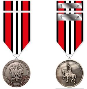"""Pamětní odznak 42. mechanizovaného praporu """"Svatováclavského""""."""