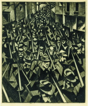 C. R. W. Nevinson: Úsvit, 1914; 1916. FOTO: © the Trustees of the British Museum