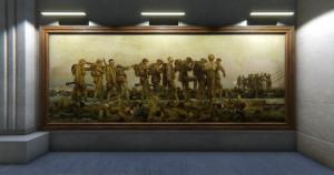 Část virtuální Síně vzpomínek s plátnem Johna Singera Sargenta Zasaženi plynem. FOTO: © IWM