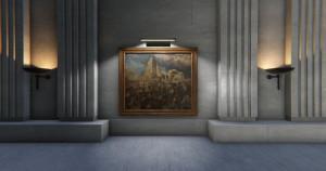 V nerealizované Síni vzpomínek neměl chybět ani obraz Henryho Tonkse Předsunuté obvaziště ve Francii. FOTO: © IWM