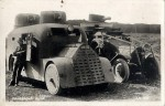 Dvojice obrněných vozů čs. armády