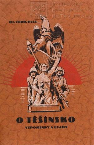 Obálka knihy s výtvarným tématem z pomníku padlým a obětem plebiscitu v Orlové.