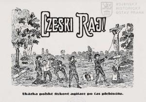 Polský protičeský leták z období plebiscitu.