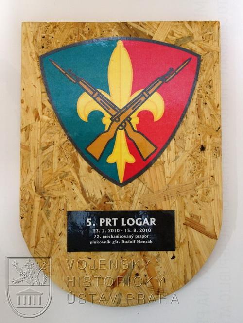 Pamětní deska 5. kontingentu AČR mise ISAF PRT Lógar