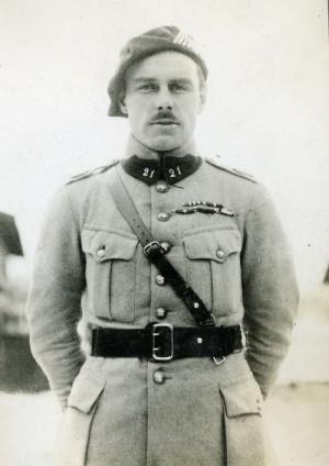 Velitel 2. praporu 21. čs. střeleckého pluku praporčík Vlasák