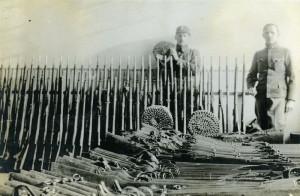 Zbraně ukořistěné Polákům v bojích na Těšínsku v lednu 1919