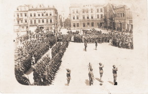 Slavnostní předání správy rozděleného Těšínska Mezispojeneckou komisí 10. srpna 1920
