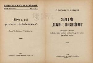 Titulní list a frontispis knihy.