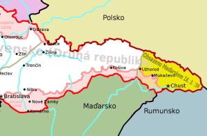 Mapa dotyčné oblasti
